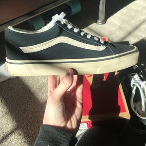 34fd7fb86b7 Vans Shoes - Vans old skool black suede and sherpa sneakers